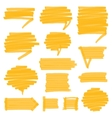 Highlighter Shaded Speech Bubbles Design Elements vector image