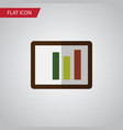 isolated column chart flat icon diagram vector image