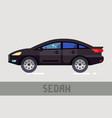 sedan car vector image