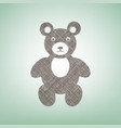 teddy bear sign brown flax vector image