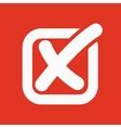 The check icon Checkmark and checkbox no voting vector image