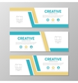 Orange and blue corporate business banner template vector image
