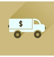 Flat icon with long shadow car transportation vector image
