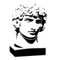 Apollo classic bust and head vector image vector image