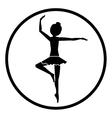 Isolated girl practice ballet design vector image