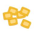 ravioli pasta uncooked italian pasta macaroni vector image