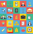 set of 25 business icon flat vector image