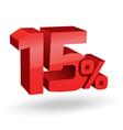 15 percent digits vector image