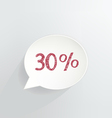 Thirty Percent Discount vector image