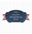 Happy Memorial Day greeting Badge with Ribbon vector image