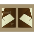 Coffee Stains Brochure Flyer design Layout vector image