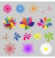 Collection Mod Style Flowers vector image