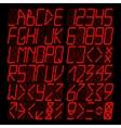 Digital red Alphabet vector image