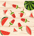 homemade popsicles with berries vector image