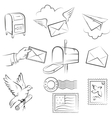 mail and post delivery vector image