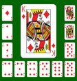 playing cards suit diamonds vector image