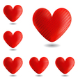 Set of design heart icons vector image