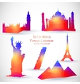 Set of World Famous Landmark vector image