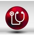 stethoscope icon on isolated background vector image