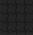 Textured black plastic wavy grid vector image
