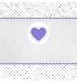 Vintage Valentines Hearts Card vector image