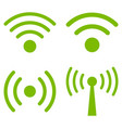wi-fi signal flat icon set vector image