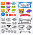Colored black-white set of promotional sales vector image