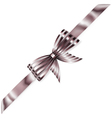 Beautiful striped shiny bow vector image