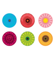 Circle Flowers Pattern vector image