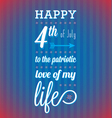 Happy 4th of July Card vector image vector image