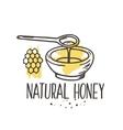 honey background Bio hand drawn set vector image