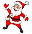 Santa clause cartoon waving hand vector image vector image