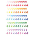 100 different colorful balloons set vector image