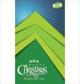 Christmas tree modern design vector image vector image