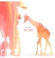 Giraffe Animal Watercolor Background vector image vector image