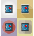 cinema flat icons 07 vector image vector image