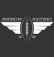 American football or rugby ball with wings sport vector image