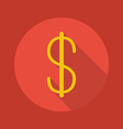 Business Flat Icon Dollar vector image