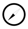 compass the black color icon vector image