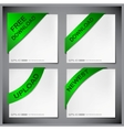 green corner ribbon vector image