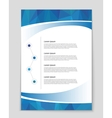 List page mockup brochure theme style banner vector image