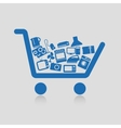 Shopping cart concepts vector image