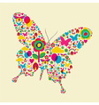 Spring time butterfly vector image
