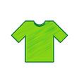 t-shirt sign lemon scribble vector image
