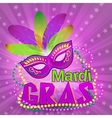 Venetian carnival mardi gras colorful party mask vector image
