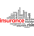 word cloud insurance vector image