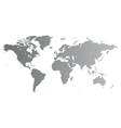 Silver World map vector image vector image