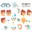 ophthalmology problem and medical treatment vector image