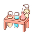 The test tube vector image