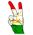 Peace Sign of the Tajikistans flag vector image vector image